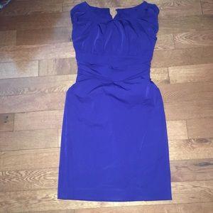 Diane Von Furstenberg royal blue cocktail dress 6